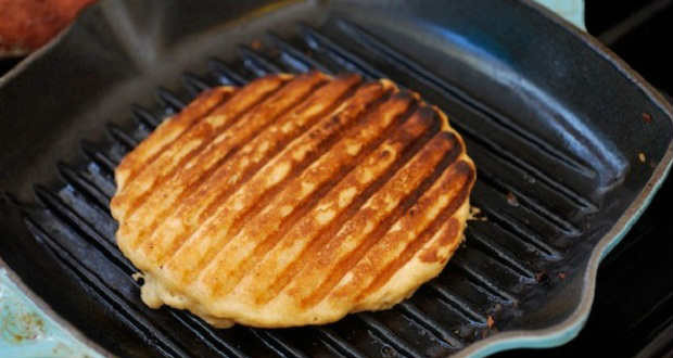 using grill pan in making waffles