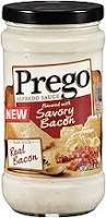 Prego Alfredo Sauce with Real Bacon