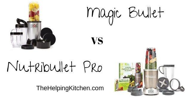 Magic Bullet Vs Nutribullet Blender